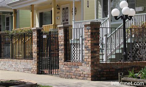 front yard brick fence designs front yard brick fence picture interunet