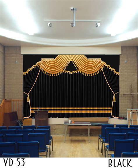 curtain hall luxury hotel curtain decor hall
