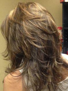 long layered haircuts back view | medium length, layered