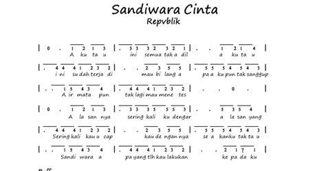 cara bermain gitar lagu sandiwara cinta all in one blog not angka repvblik sandiwara cinta