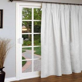Pinch Pleated Drapes For Sliding Glass Doors Weathermate Pinch Pleated Patio Door Curtain Panel In White For Sliding Door In Bedroom