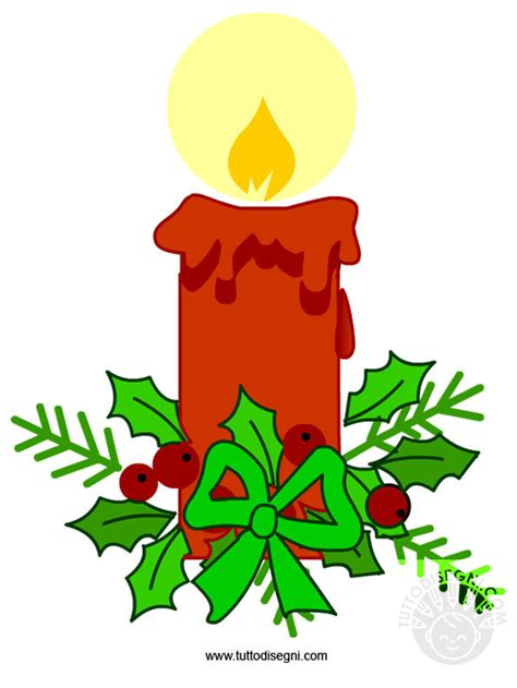 candela rossa candela rossa di natale tuttodisegni