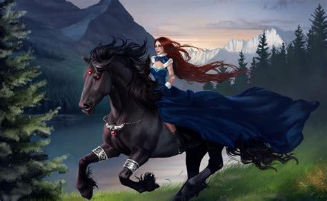 imagenes de vaqueras con caballos banco de im 193 genes hermosa mujer sobre su caballo negro
