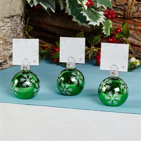 6 bauble place card holders or 10 place cards christmas