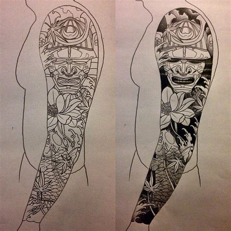 japanese style sleeve tattoo designs 60 samurai tattoos ideas meanings and designs