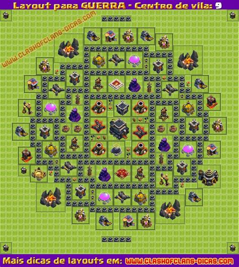 coc layout guerra cv 9 layouts de guerra para cv9 clash of clans dicas