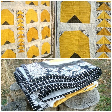 Busy Bees Patchwork - bee quilt in issue 13 of quarterly
