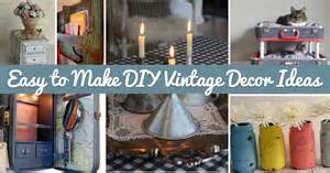 Retro Home Decor Ideas 25 easy to make diy vintage decor ideas cute diy projects