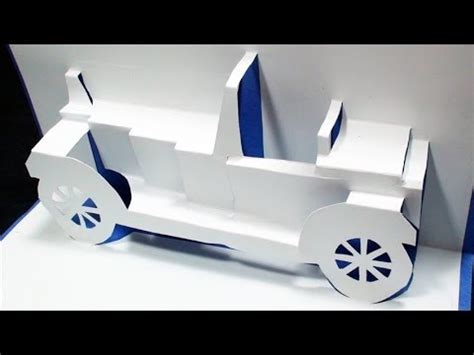 how to make a classical car pop up card kirigami 3d