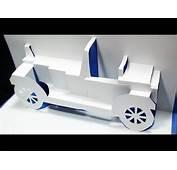CAR Pop Up Card FREE Template Kirigami 3D Greeting