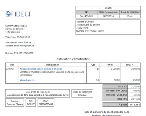 modele facture acompte document
