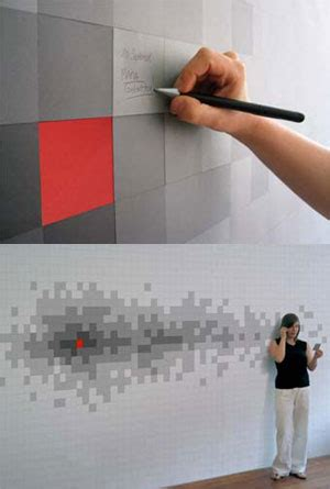 Pixelnotes Wallpaper Reinvents The Post It by The Writing S On The Wall Popbetty