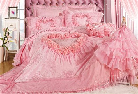 pink lace comforter luxury romantic pink lace rose bedding sets modern