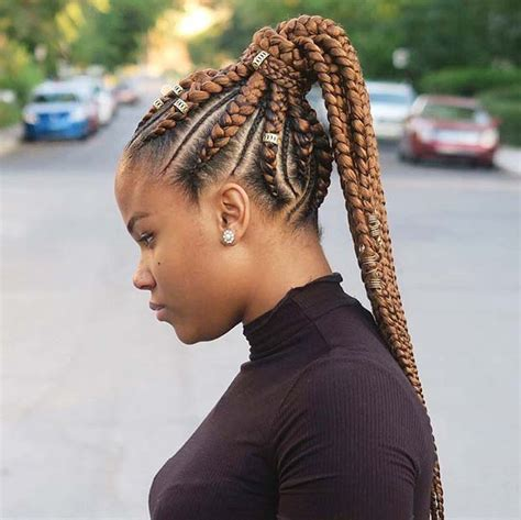 braids with color 25 best ways to rock feed in braids this season