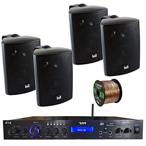 pyle pdabu amplifier receiver stereo bluetooth fm radio