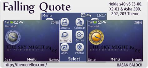 nokia asha live themes falling quote live theme for nokia c3 x2 01 asha