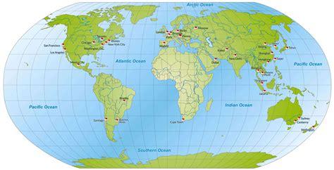 world map important cities carte du monde avec les grandes villes