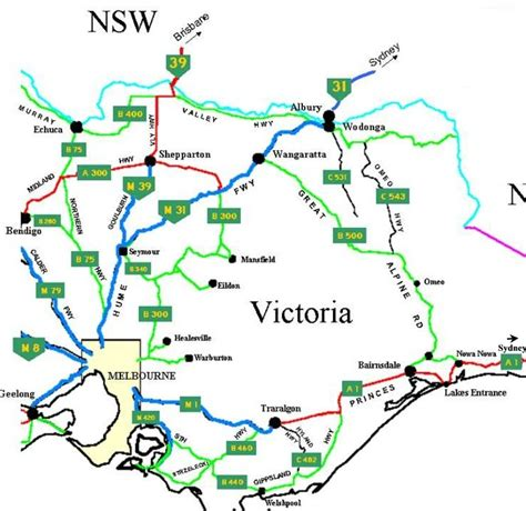 road map of eastern australia towns biography