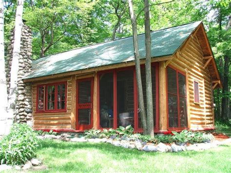 Cabins Michigan by Beachy Adorable Log Cabin Lake Michigan Vrbo