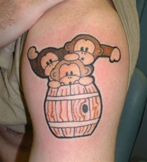 cute monkey tattoos 45 monkey shoulder tattoos design