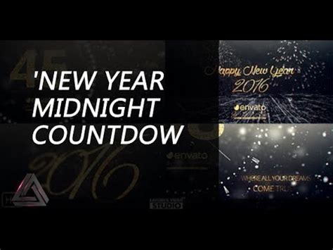 new year 2016 after effects template new year midnight countdown 2016 after effects template