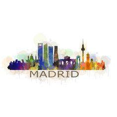 vinilos la plata calle 7 vinilo decorativo adhesivo skyline madrid madrid