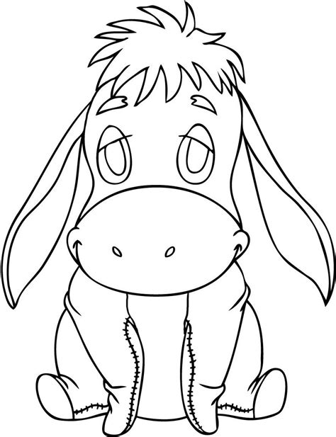 kids color free printable eeyore coloring pages for kids