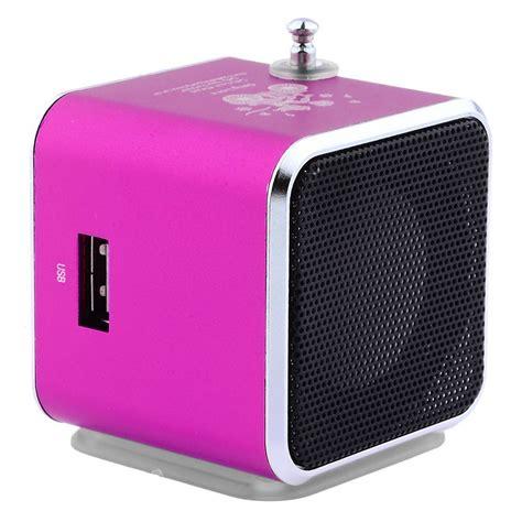 Speaker Rokok speaker mini portabel fm radio tf card td v26 black