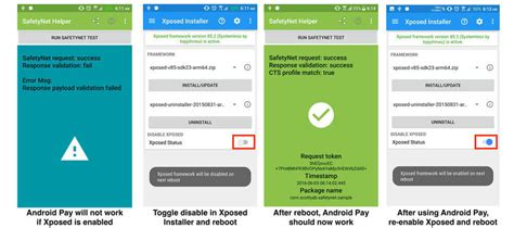 android not working how to install system less xposed to receive ota updates android pay