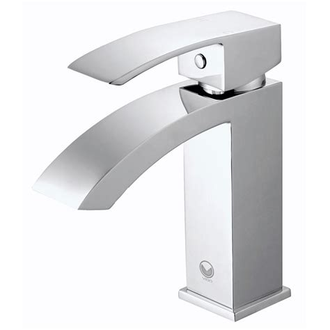 vigo single hole single handle bathroom faucet in chrome