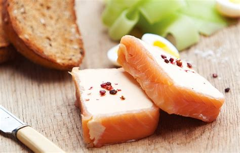 smoked salmon terrine recipe smoked salmon terrine with cucumber and quail s eggs recipe