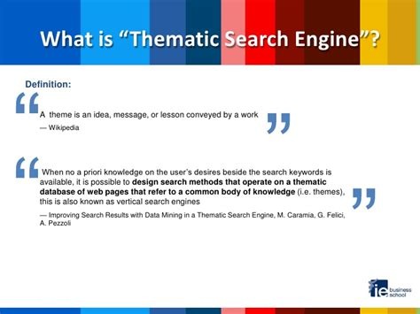 google theme today meaning what is thematic search engine definition