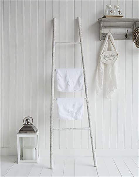 decorative ladder for bathroom white wooden decorative ladder from the white lighthouse