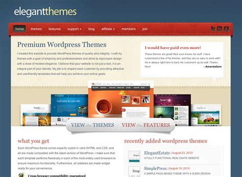 elegant themes web design 10 places to buy professionally designed wordpress themes