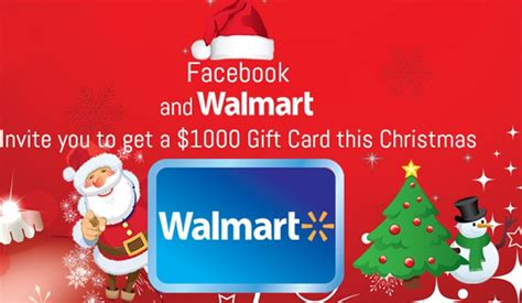 Walmart Survey 1000 Gift Card - facebook and walmart invite you to get a 1000 gift card this christmas facebook