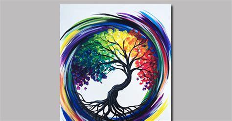 rainbow tree  life painting classes chicago