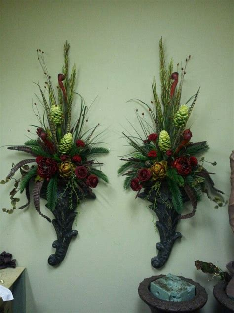christmas garland on buffett pics 17 best images about some of my floral creations on wall basket
