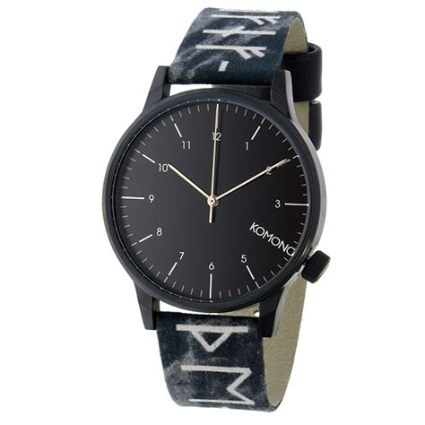 Komono Winston Rune Black コモノ komono winston rune black クオーツ メンズ 腕時計 kom w2160 ブラック