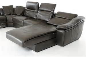 Grey Leather Sectional Sofa Divani Casa Jasper Modern Grey Leather Sectional Sofa