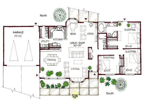 passive solar home design plans luxury passive solar ranch house plans new home plans design
