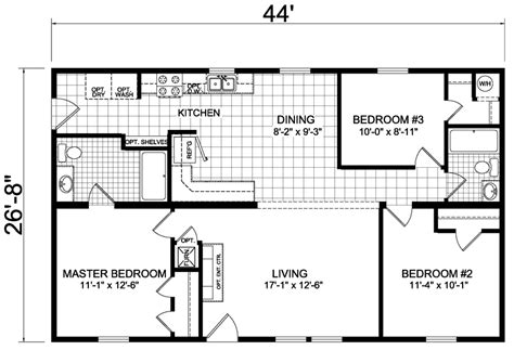 100 mn home builders floor plans modular homes wells 27 x 44 1173 sqft mobile home factory expo home