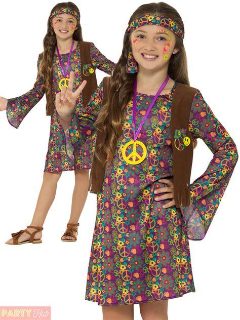 1960s fashion hippie on pinterest hippies 1960s 70s girls 60s 70s hippie costume childs hippy fancy dress kids