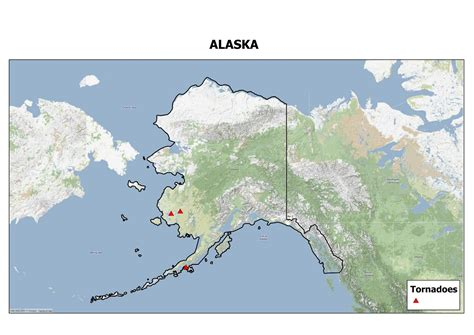 alaska map continental us u s tornadoes that occur outside the u s the