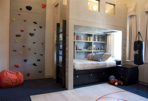 rock wall in bedroom kids rooms climbing walls and contemporary schemes
