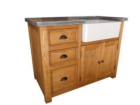 meuble cuisine bois meuble evier de cuisine en pin