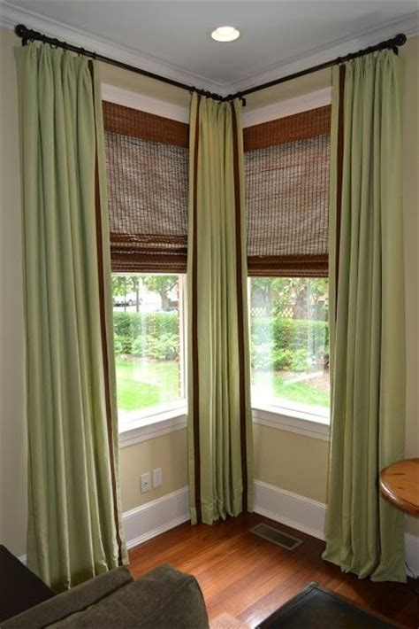 Corner Valance Rod 17 best ideas about corner window curtains on corner curtain rod corner window