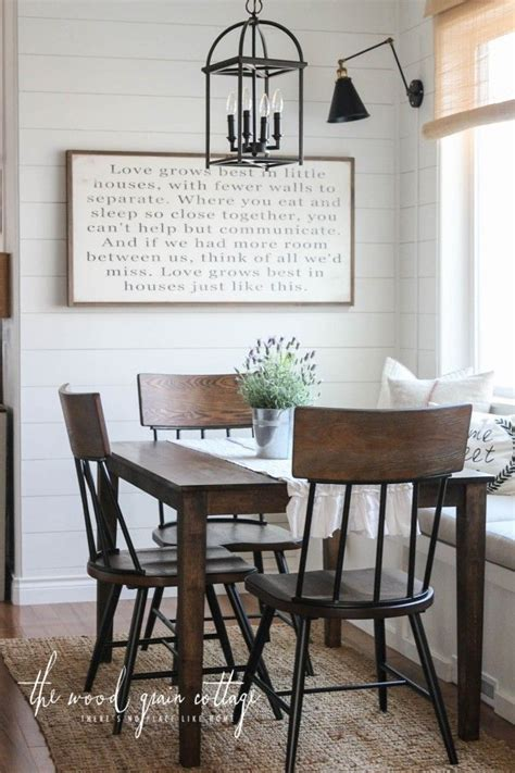 breakfast nook chairs small dining farmhouse