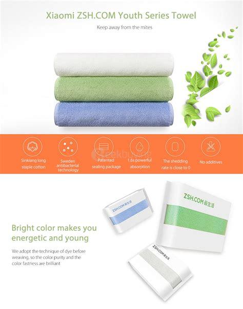 Original Xiaomi Zsh Bath Towel 100 Percent Cotton Towel original xiaomi zsh towel blue