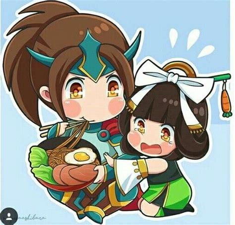 chang e mobile legend mobilelegend zilong and chang e fanartby miyusa ashibara
