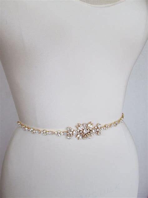 gold belt bridal belt sash bridal by